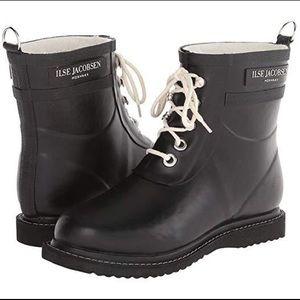 Ilse Jacobsen🌼Short rubber rain boots black EU 41